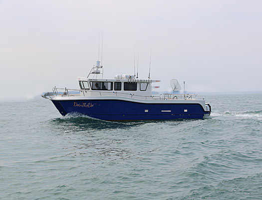 boat for scattering ashes in the english channel