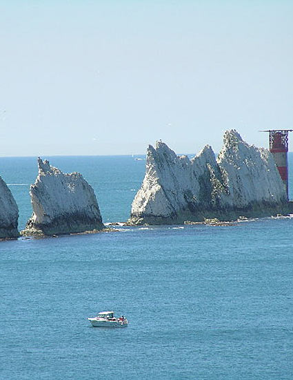 boat for scattering ashes near the needles
