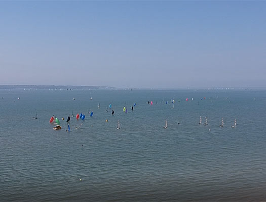 boat for scattering ashes in the solent